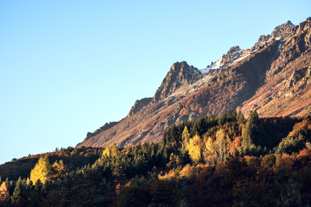 Autumn Colors in El Bolson, Patagonia, Argentina Standard-Bild