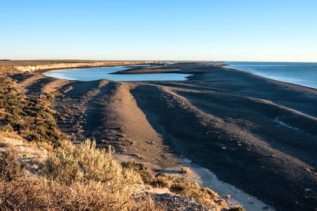 Patagonia Coastline, Peninsula Valdes, Argentina Standard-Bild