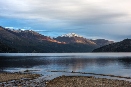 Autumn Colors in Lake Guillelmo sits near Villa Mascardi, Bariloche, Patagonia, Argentina