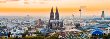 Cologne city panorama 스톡 콘텐츠