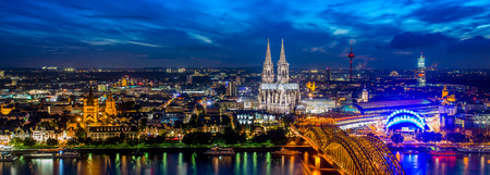 cologne: Cologne city panorama Stock Photo