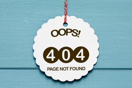 Fout 404 - Pagina niet gevonden