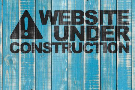 website: website under construction Stock Photo