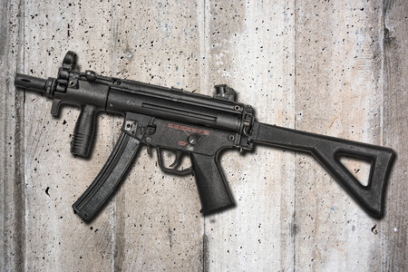 german handgun: Submachine Gun Stock Photo