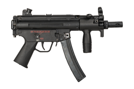 german handgun: Submachine Gun - isolated