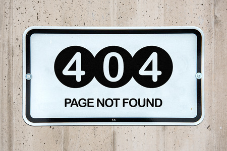 Page not found - 404 Stock Photo - 58687835