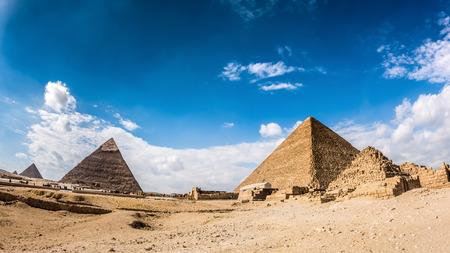 Great Pyramids in Giza, Egypt Stock Photo