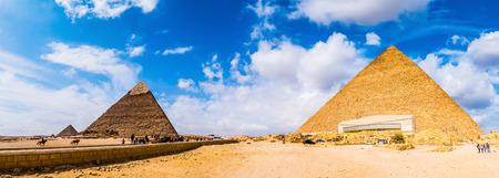 Great Pyramids of Giza, Egypt Stock Photo