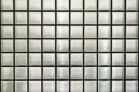 Glass block wall background or texture
