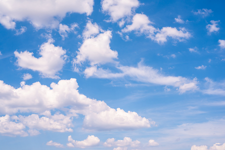 Blue sky with white clouds as a background Standard-Bild - 106138441