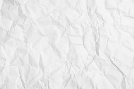 Crumpled white paper Stockfoto