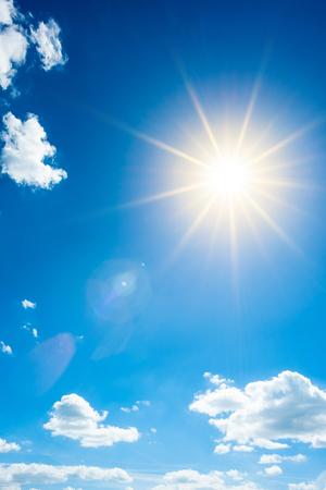 Summer background, wonderful blue sky with bright sun Stock fotó