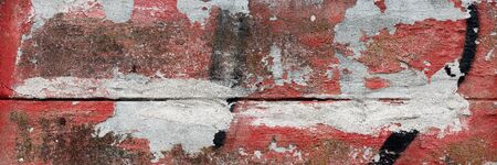 Texture of old gray and red concrete wall as on grungy background