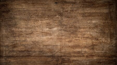 Texture of an old scratched wood panel as a background Stock fotó