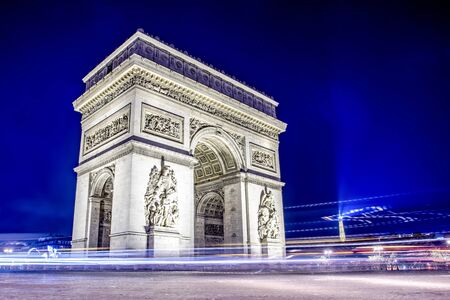 Arch of Triumph in Paris at night