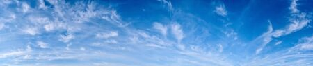 Panorama of a blue sky with white clouds Stock Photo - 137055728