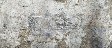 Texture of old, grungy, gray and white concrete or cement wall
