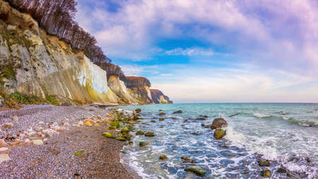 The island of Rugen with limestone cliffs and the Baltic Sea