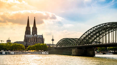 Cologne Cathedral, the Rhine and the Hohenzollern Bridge