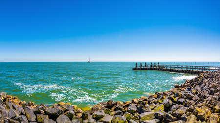 The IJsselmeer in the Netherlands, photographed from near the Vlietermonument