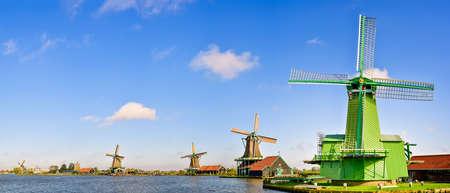 Zaanse Schans windmills in the Netherlands