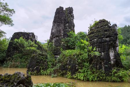 Huangguoshu Waterfall, Tianxingqiao Scenic Area Stock Photo