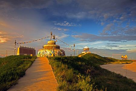 mongolian: Mongolian yurt in Xinjiang