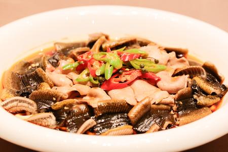 Sichuan chili pork tripe and eel hot pot