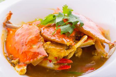 Thai curried crab