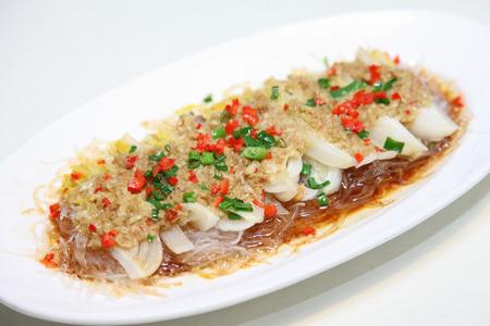 Steamed garlic with vermicelli Banque d'images