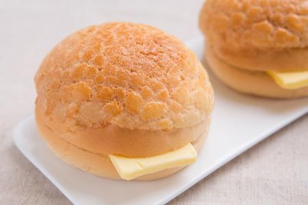Pineapple butter Bun Reklamní fotografie