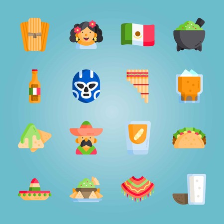 Icon set about Mexican Holiday Illustration