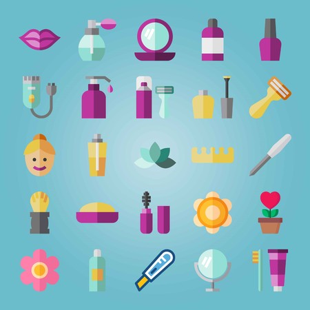 Icon set about Beauty.