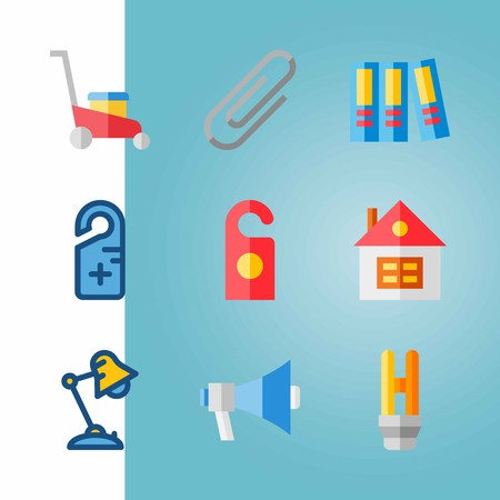 Icon set about Real Assets with invention, home and attached Ilustrace