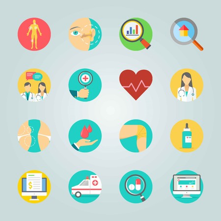 Icon set about Medical. with analytics, invoice and knee