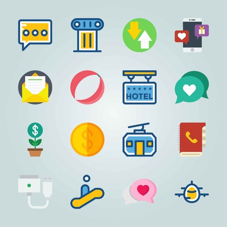 Icon set about Travel. with timetable, magsafe and 5 stars hotel 일러스트