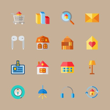 icon set about digital marketing with columns, electric  and chart 免版税图像 - 95588100