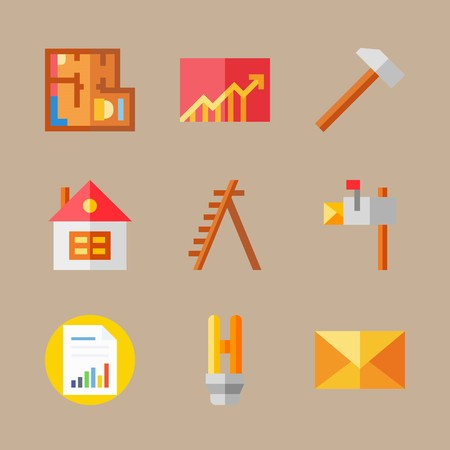 Real estate icons vector illustration set