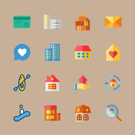 Travel icons vector illustration set