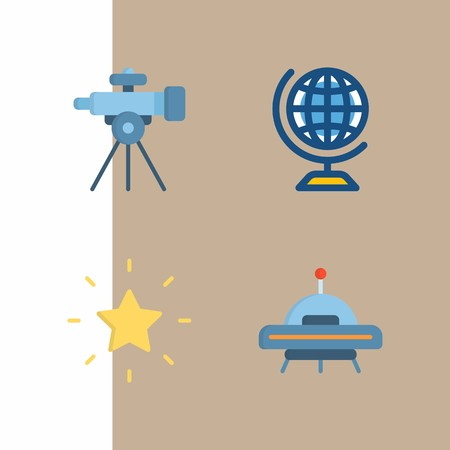 Space icons vector illustration set Ilustrace