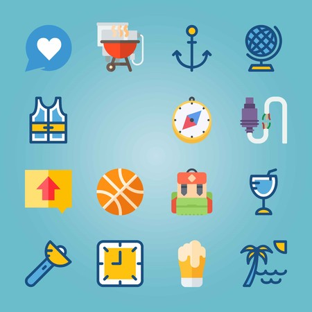 Travel icons vector illustration set