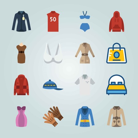 Icon set about Clothes And Accessories vector illustration
