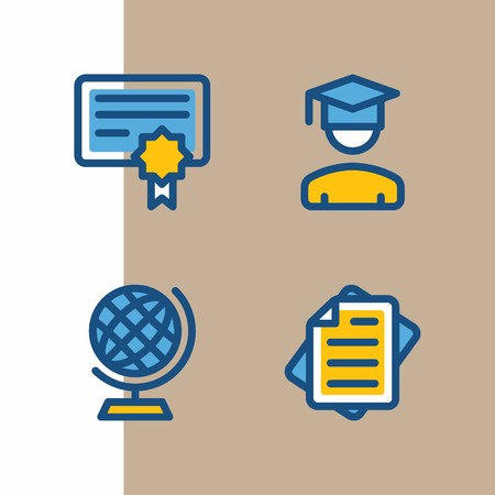 Icon set about education and school vector illustration