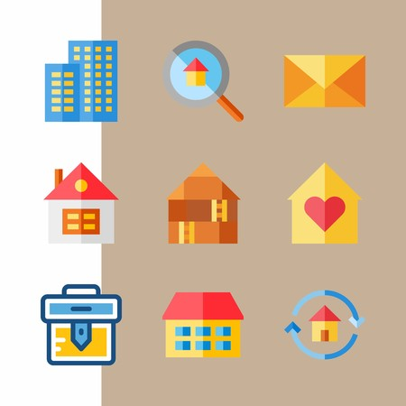 icon set about travel with mail, letter and case