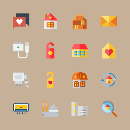 icon set about travel with magsafe, house and home