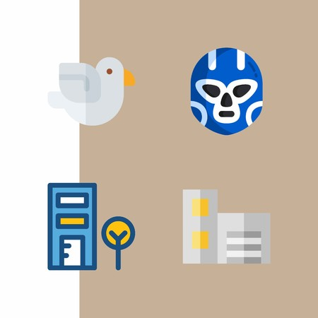 United States related icons vector illustration set