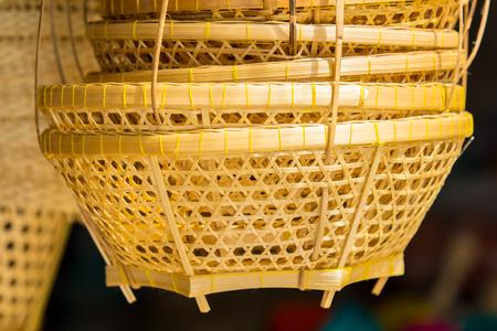 trabajo manual: Oficios handwork de bambú.