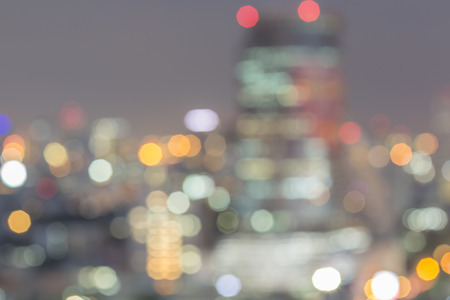 bangkok night: Blurry shot of night city scape in bangkok thailand. Stock Photo