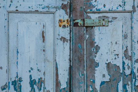 private access: Old vintage wooden door. Stock Photo