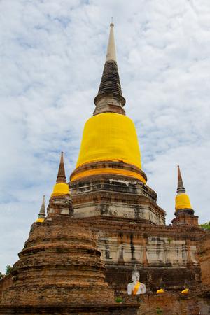 ayuthaya: Wat Yai Chaimongkhon, Ayuthaya, Thailand. Stock Photo